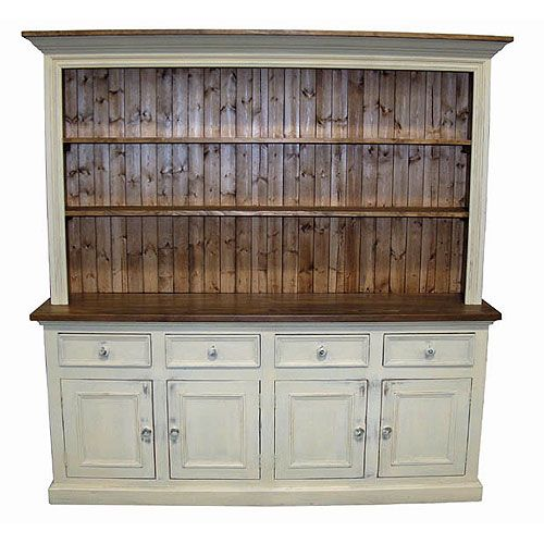 Charming FRENCH CHARM: The Open, 4 Door French Country Hutch Offer Lots Of Storage