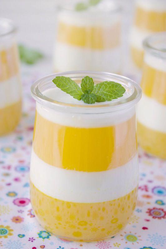 Gelatina de naranja con yogur