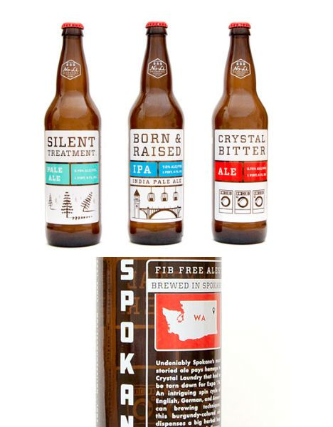 I like the organization of this bottle label with the name of the beer at the top, style on the left, specifications on the right.