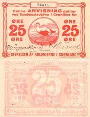 25 Ore Greenland's Banknote