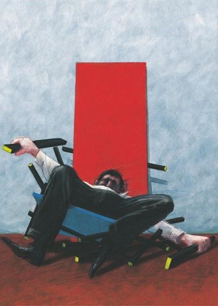 Gerrit Rietvelds rot-blauer Stuhl, Gerhard Gluck