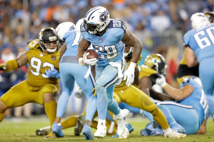 Thursday Night Football: Jaguars vs. Titans:    October 27, 2016  -  36-22, Titans   -     DeMarco Murray #29 of the Tennessee Titans runs with the ball during a game against the Jacksonville Jaguars at Nissan Stadium on Oct. 27, 2016 in Nashville.