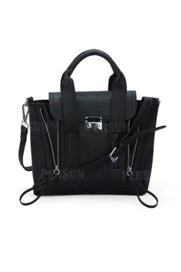 Mini Type Double Zipper Handbag