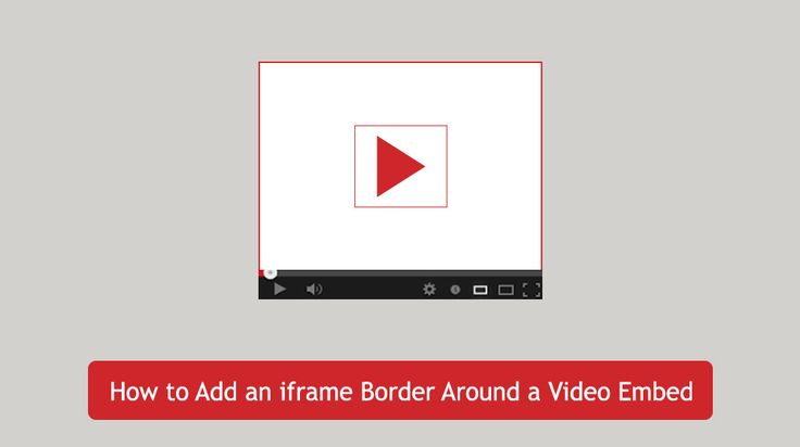 This article covers 2 methods on how to add an iFrame border around an embedded video in your wordpress blog post. Step by step guide to add iframe border