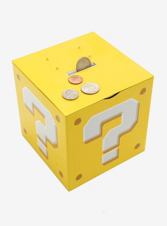 Nintendo Super Mario Bros  Question Block Coin Bank in 2019