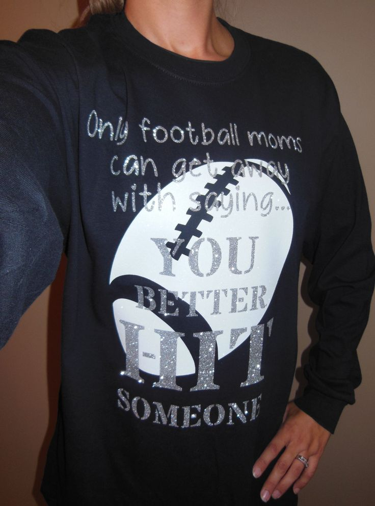 Glitter Only a Football Mom Can Proud Fooball Mom Shirt Sports Fan Cheer by DesignsbyJackelyn on Etsy