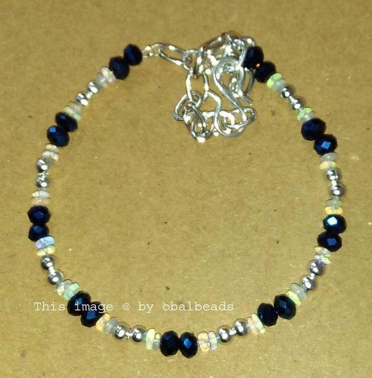 Natural Opal Smooth Bracelet Faceted Crystal Beads Bracelet Women Bracelet EC149 #Unbranded #Beaded