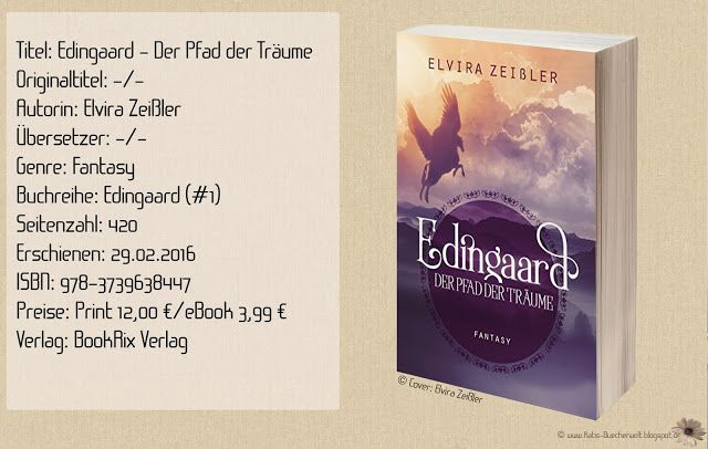 """""""Edingaard - Der Pfad der Träume"""" von Elvira Zeißler ist der Auftakt einer Fantasyreihe in einer fantasievollen Welt, wilder Kreaturen und magischen Wesen. Ein unterhaltsamer Roman, dem es noch an Emotionen und Tiefe fehlt. ~ brutal ~ mystisch ~ magisch"""