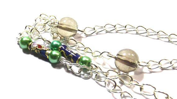 Cloisonee catena occhiali cordino argento di ArtigianatoLiliana