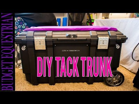 How To Make Your Own Tack Trunk - YouTube