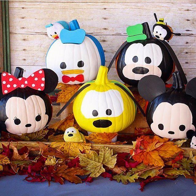 tsum tsum pumpkins - Baby Halloween Birthday Party
