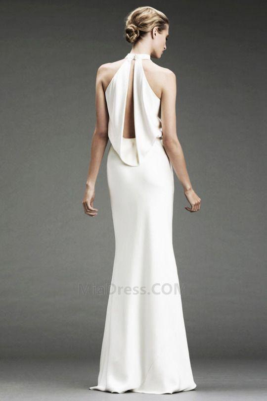 Chic & Moderne Longueur ras du Sol Capot Manquant Trou De Serrure Robe de Mariée