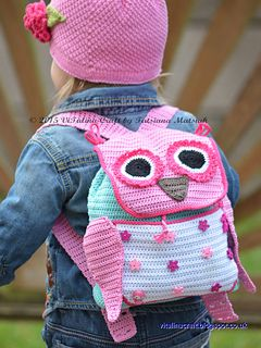 This crochet pattern is for my Owl Adventure Backpack. This beautiful backpack is an ideal accessory for you little one. It is big enough to pack in all kid's favourite things and brighten up their long trip or just short walk around.