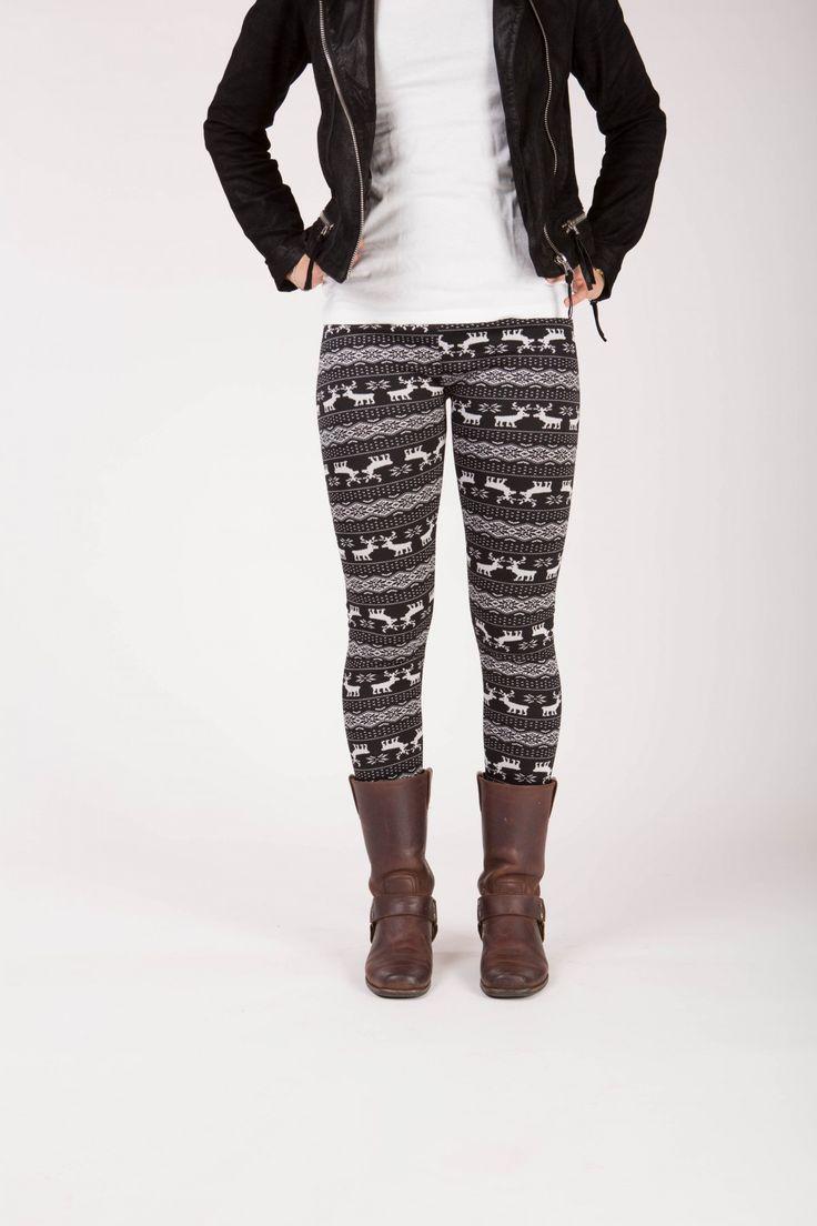 Garnet - Winter warme legging met fleece