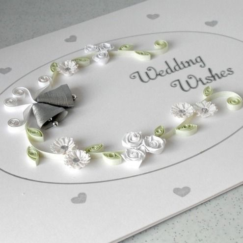 Quilled wedding congratulations card £6.00
