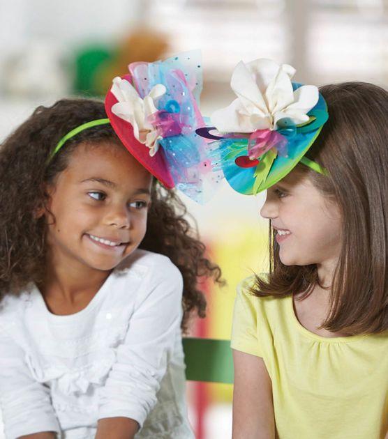 Diy fascinator hats we made it by jennifer garner for Craft hats for kids