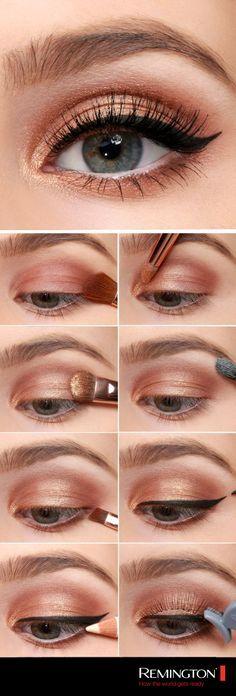 Este maquillaje es súper in y además funciona perfecto para un evento de día o de noche. ¡Llévalo en cualquier evento y luce lindísima! #woman #makeup #style #eyes #eyeshadow #glamorous