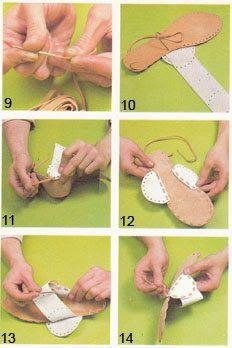 Como fabricar unas sandalias artesanales de cuero : Artesanias de Cuero