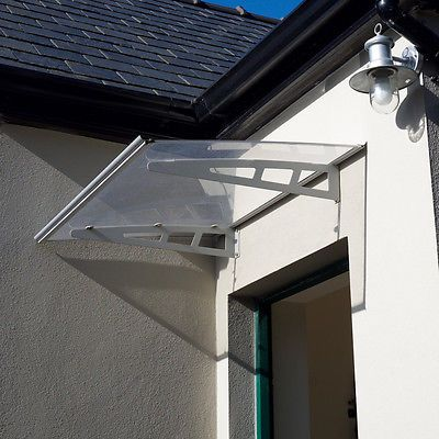 MODERN ALUMINIUM DOOR CANOPY Front Awning Porch Roof Rain Shelter Shade Patio
