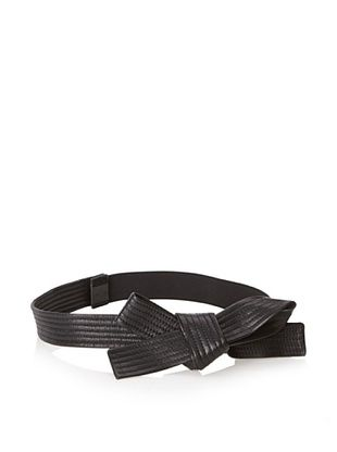 24% OFF Lanvin Women's Medium Goatskin Bow Belt, Black