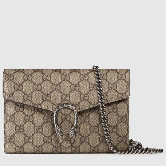 Gucci Dionysus GG Supreme chain wallet - #want