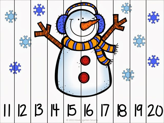 Winter fun counting number puzzles - counting by 1's and 10's - differentiated…