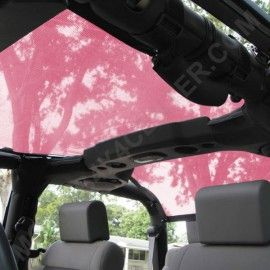 Jeep wrangler Jk pink top Pink SpiderWebShade TrailMesh Shade Top-Pink 1-Piece - SW1-JK2D-TMP