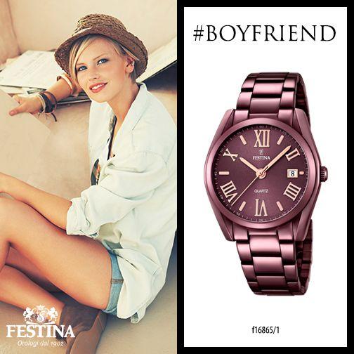 Sognate di indossare l'orologio del vostro fidanzato? Il nuovo trend è #Boyfriend: femminile, con grinta.