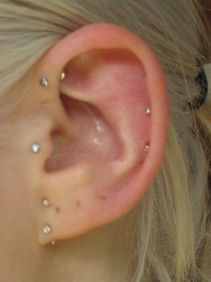 Multiple Ear Piercings Done By Miss Demeanour Beauty And Body