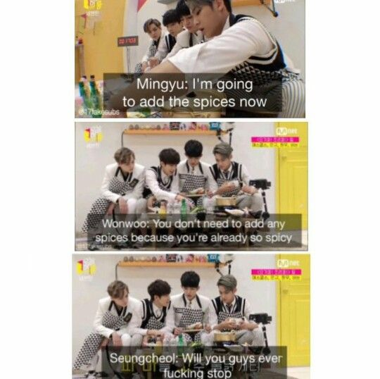 meanie strikes again <<< S.Coups is jealous of meanie xD