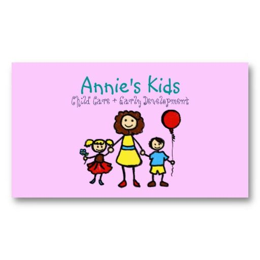 20 best Child Care Business Cards images on Pinterest