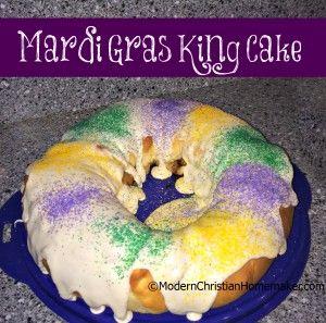 Mardi Gras King Cake Recipe - Modern Christian Homemaker