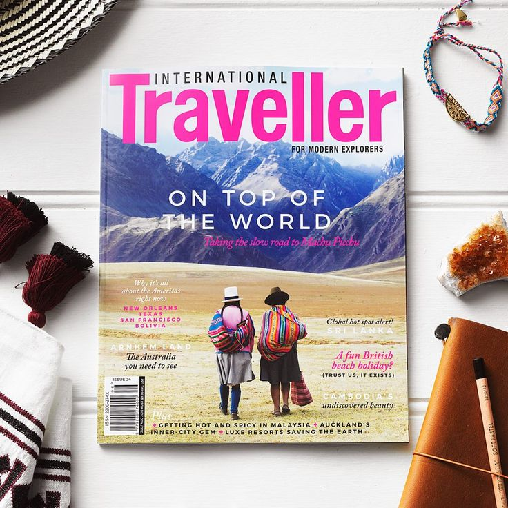 INTERNATIONAL TRAVELLER ISSUE 24   Our Americas issue, featuring:   The altitudinous magic of Machu Picchu The Cajun spice of New Orleans Living local in San Francisco, U.S.A 48 hours in La Paz, Bolivia Plus a look at Cambodia's quiet colour, the exotic flavours and cultures of Sri Lanka, the nostalgia of an English seaside town, and much more!