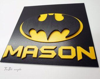 Customized Superhero Batman, wooden wall art, children's bedroom