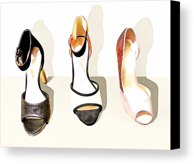 Womens High Heel Stiletto Shoes 20160227 Canvas Print / Canvas Art by Wingsdomain Art and Photography  pop pop art andy warhol contemporary modern art kitsch kitschy collectible collectibles color colorful bright whimsical whimsy fun fashion shoe shoes lady shoe