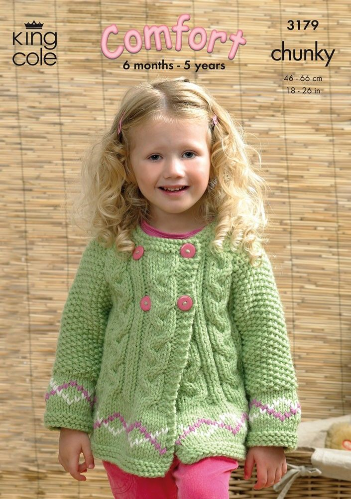 Sweater and Jackets in King Cole Comfort Chunky - 3179 - Children - For - Patterns
