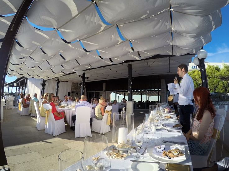 Wedding Reception. Importanne Resort. Hotel Neptun Lounge Terrace