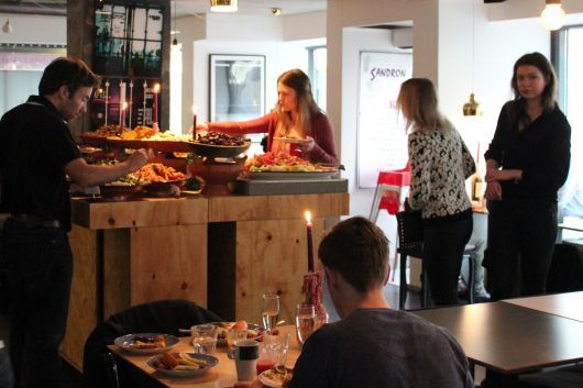 Sandro, a restaurant in Helsinki serving North African and Middle Eastern cuisine. Located at Kolmas Linja 17 (near hotel). Booking ahead recommended. #helsinki #finland #helsinkirestaurant
