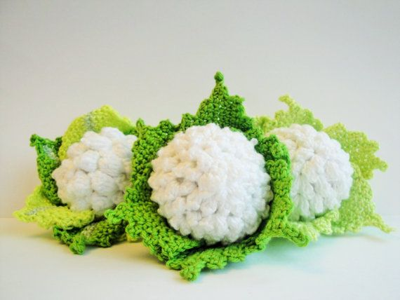 Crochet Cauliflower Pretend Play Crochet by Crochetpumpkin on Etsy