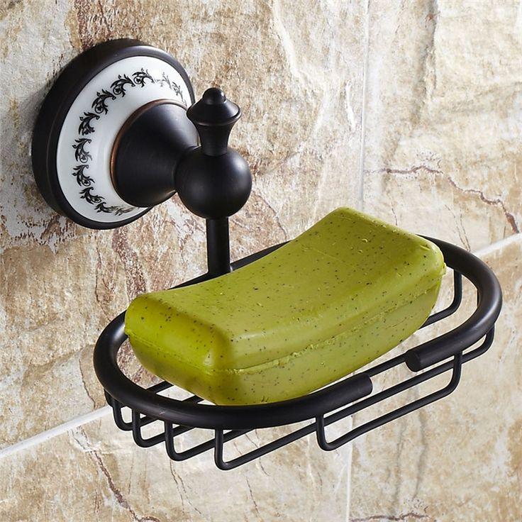 石鹸ホルダー 浴室ソープディッシュホルダー 石鹸置き 水切り 洗面所用品 真鍮製 ORB
