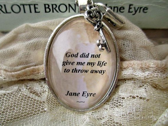 Collier de citation de Jane Eyre, bijoux de citation de Charlotte Bronte