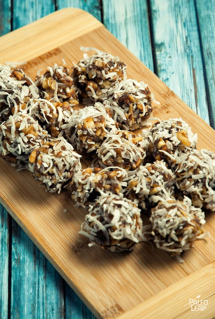 Coconut Date Balls--LOTS of sugar, here, but if you need to gain weight, maybe this would help.