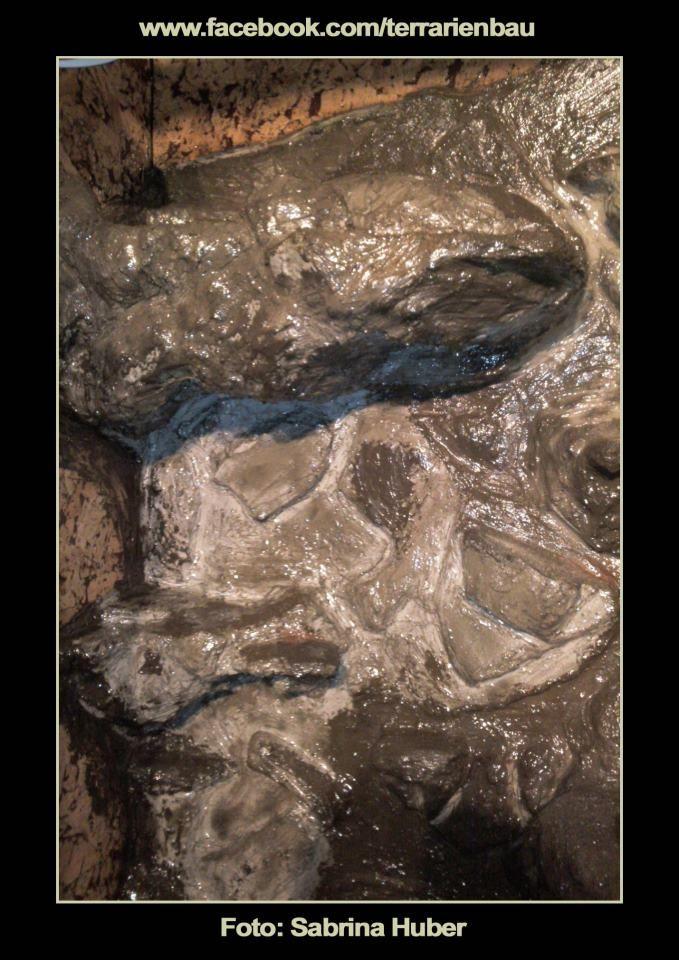 Umbau einer alten Vitrine zum #Terrarium für ein #Pantherchamäleon. Bild 6 von 16: Versiegelung der Rückwand mit Epoxidharz