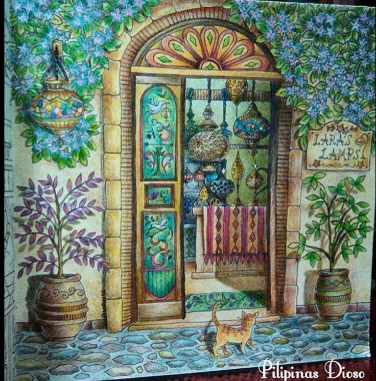 Eriys Romantic Country Lauras Lamps Coloring BooksAdult