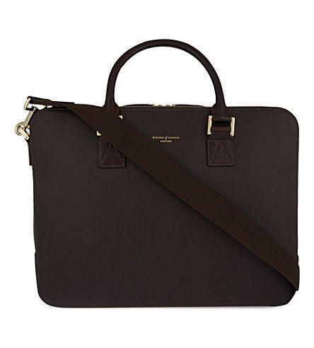 ASPINAL OF LONDON - Mount street large saffiano leather tech bag | Selfridges.com