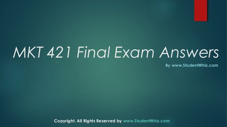 We can help students achieve their goals.We provide study materials for MKT 421 Final Exam Questions which are the most queried subjects by the students. A helping hand and a true friend in need. http://www.StudentWhiz.com/ will provide you every possible solution that can help your studies in a better way.