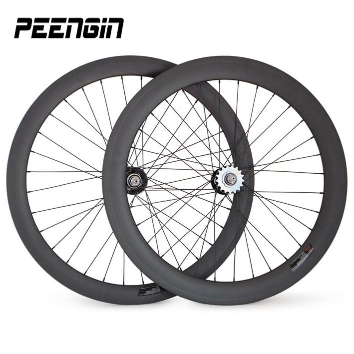 single speed wheelset carbon mixed clincher track bike wheels 50mm front 60mm rear 25mm width fixed gear huge discounts for sale