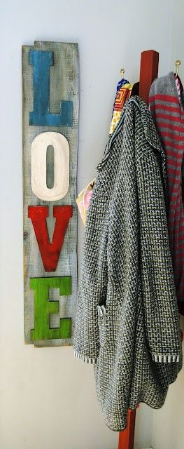 LOVE sign diy wall art