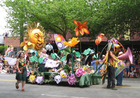 Fremont Solstice Parade.  Headed there now.