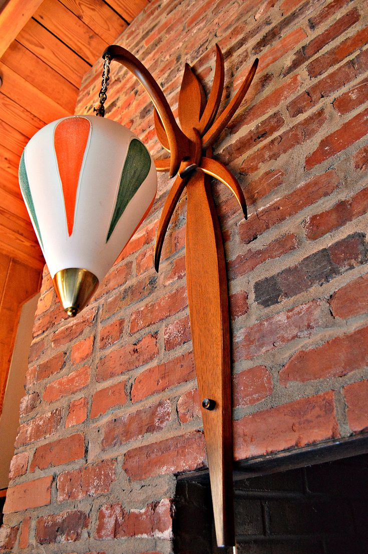 LARGE Mid Century Danish Style Bentwood Wall Lamp / Pendant by DirtyGirlsAntiques on Etsy